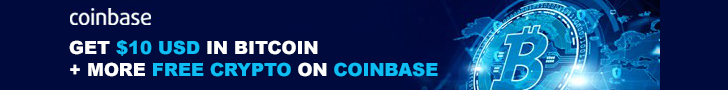 Get Free $10 Bitcoin + more free crypto on Coinbase